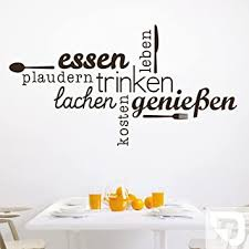 designscape wandtattoo essen trinken genießen wandtattoo küche esszimmer 100 x 54 cm breite x höhe weiss dw803463 m f5