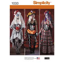 Day Of The Dead Pumpkin Carving Patterns by Pattern For Misses U0027 Day Of The Dead Costumes Simplicity