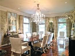 Formal Dining Room Wall Decor Elegant Medium Tone Wood Floor And Brown Enclosed