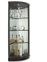 modern contemporary corner glass cabinet allmodern