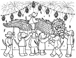 Free Dragon Chinese New Year Coloring Pages
