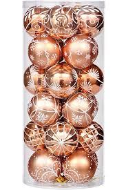 Sea Team 60mm 236quot Delicate Painting Glittering Christmas Tree Pendants Shatterproof Hanging