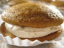 Pumpkin Whoopie Pies With Maple Spice Filling by Pumpkin Whoopie Pies Recipes Cooking Channel Recipe Cooking