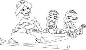 The First Coloring Pages Princess Sofia Colouring Free Online Mermaid