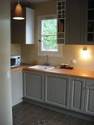 cuisine gris bois cuisine grise plan de travail bois delightful cuisine grise plan