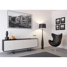 kommode sideboard lowboard anrichte wohnzimmer schrank holz abato fx dc schwarz