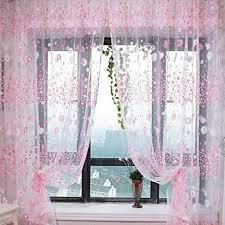 urijk transparant gardinen pastoralen stil gardinen blumen fenster vorhang für küche wohnzimmer schlafzimmer 100cmx270cm 1 stück