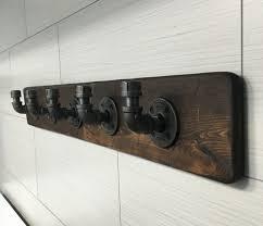 Industrial Rustic Modern Handmade Wall Hook Hanger Rack Towel Purse Coat
