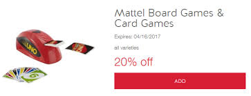 There Is A Great New Cartwheel Offer For 20 Off Mattel Board Card Games Which Valid Through 4 16 You Can Stack This With The Buy 2