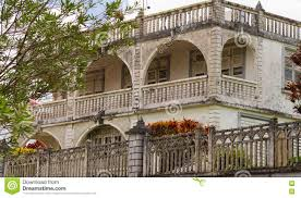 The Caribbean Colonial Style Building Martinique Island