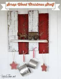 Scrap Wood Christmas Shelf With Hooks