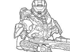 Halo Character Coloring Pages