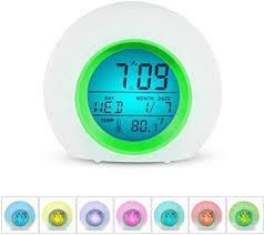kinder wecker digitalanzeige up clock 7 farben ändern