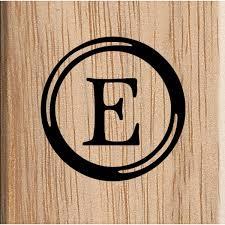 Uppercase Alphabet Letter E Stamp 38Cm X 38Cm Hobbycraft