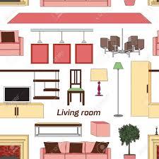 coole grafik wohnzimmer muster interior design mit möbeln
