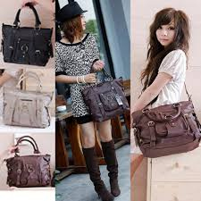 fashion korean women satchel shoulder handbag messenger crossbody