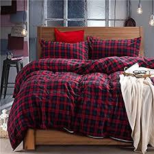 Amazon Ed Bauer Montlake Plaid Cotton Flannel Duvet Cover