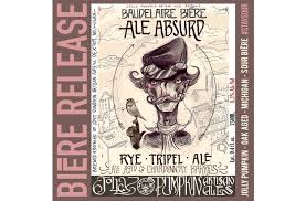 Jolly Pumpkin Artisan Ales by Jolly Pumpkin Baudelaire Ale Absurd Returns U2013 Tenemu