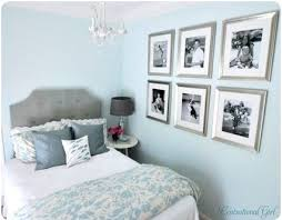 Soft Blue Wall Bedroom