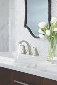 moen t6905bn voss two handle high arc widespread bathroom faucet