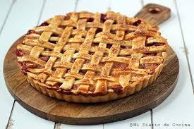 german style plum and pie