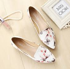 Low Price Women Flat Shoes Fashion Ladies Flower