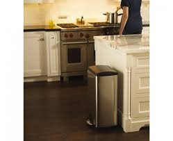 Under Cabinet Trash Can With Lid by Simplehuman 38 Litre Rectangular Pedal Bin Brushed Stainless