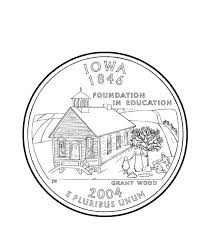 Iowa State Quarter Coloring Page
