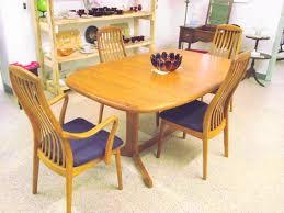 Mid Century Modern Dyrlund Danish Teak Dining Table Set Manchester Nh Antique Vintage For Sale