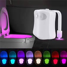 toilettenlicht mit bewegungsmelder mit 8 verschiedenen