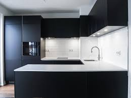 moderne küche in schwarz weiß home schlafen wohnen