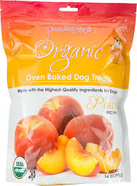 Organic Pumpkin For Dogs Diarrhea by Grandma Lucy U0027s Organic Peach Oven Baked Dog Treats 14 Oz Bag