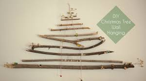 Driftwood Christmas Trees by Diy Christmas Tree Wall Hanging Youtube