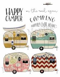 Retro Camper Clipart PNG Digital Collage Sheet 8 X By MarysMontage