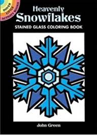 Heavenly Snowflakes Stained Glass Coloring Book Dover