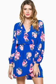 ShopSosie Style Electric Rose Wrap Dress