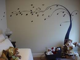 Im Having So Much Fun Leaning About Painting On Walls This Is A Simple Tree That I Painted Freehand The Wall Wanted It To Look Like There