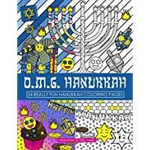 OMG Hanukkah Coloring Book 24 Really Fun Pages