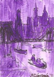 New York City In A Purple Dusk