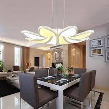 hanging flower shaped led chandelier lights for living room