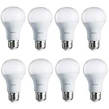 philips led non dimmable a19 frosted light bulb 1500 lumen 5000