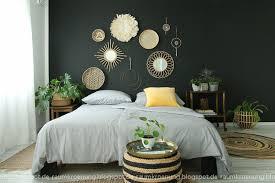 schlafzimmer schwarze wand wohnkonfetti