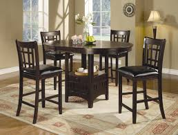 Coaster Lavon 5pc Cappuccino Counter Height Dining Set