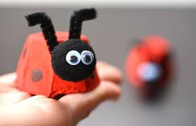 Easy Egg Carton Ladybug