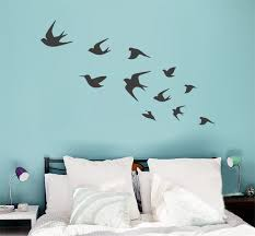 Bird Wall Decals Flying Birds Vinyls DIY Art Interior Decal Within Bedroom Plan 11