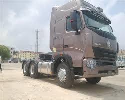 100 Drop Trucks Deck Trailer Tractor Head H7p Cabin Howo 4x2 Mack