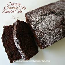 Chocolate Chocolate Chip Zucchini Cake so rich moist and full of chocolatey flavor