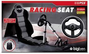 siege volant xbox 360 volant racing seat 2 bigben pour ps3 ps2 et pc accessoire console