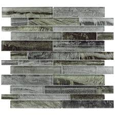 shop allen roth shimmering lights linear mosaic glass wall tile