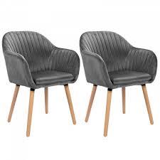 2er set esszimmerstühle aus samt holz modell emilie